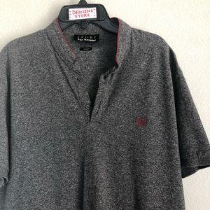 The Kooples No Collar Short Sleeve Shirt